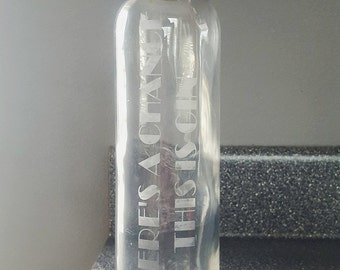 Personalized Quote Glass Water Bottle with Lid
