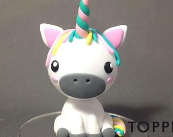 Unicorn Cake Topper, Cake Figurine, Birthday Cake Decoration, Unicorn Gift