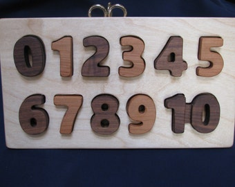 Number Puzzle 2 - wooden, 0 through 10