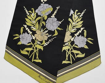 Vintage 1960's Mary Quant Silk Scarf
