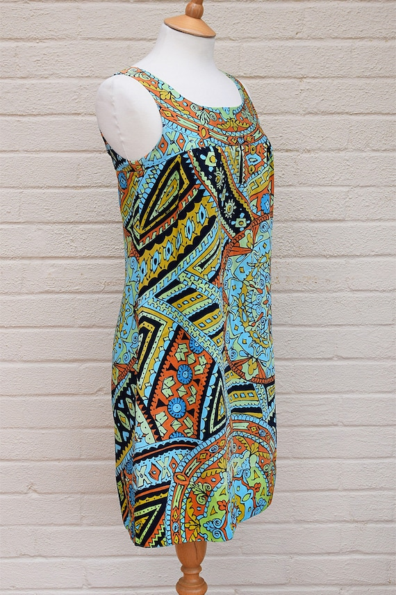 Vintage 1960's Dolly Rockers Mini Dress in Abstra… - image 3