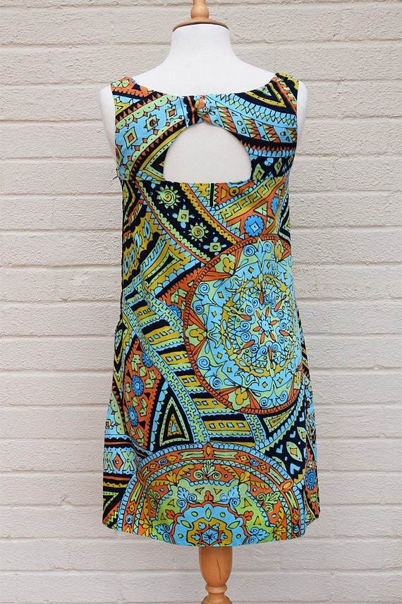 Vintage 1960's Dolly Rockers Mini Dress in Abstra… - image 4