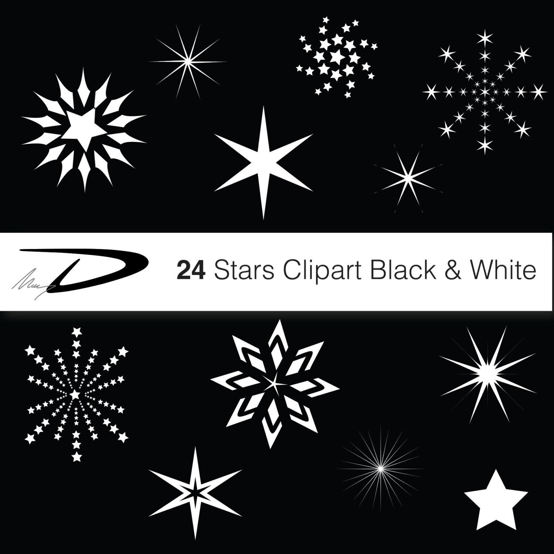 24 Weihnachtssterne digitale Sterne ClipArt weißen und   Etsy