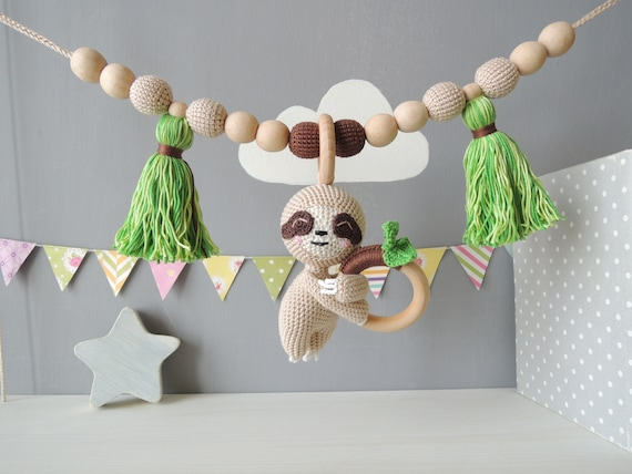 Baby Mobile Pram Garland Baby Shower Gift for Girl or Boy or Twins Car Seat Toys Stroller Chain Stuffed Animal Zoo Crib Toy Soft Elephant Hanging Toy