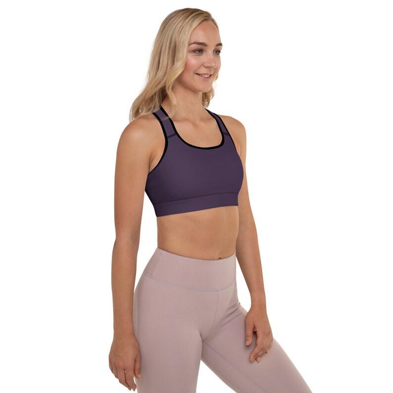 Sportswear Bras Graphic Womens Padded Sports Bra Racerback Print Activewear Sleeveless Plus Size Purple Eggplant Colorful Spandex