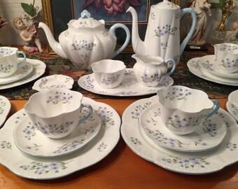 Shelley Dainty Bluerock tea set. 26 pcs.