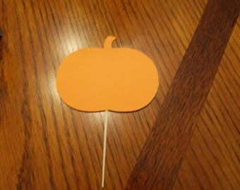 12 Pumpkin Cupcake Toppers! Choose your color!!