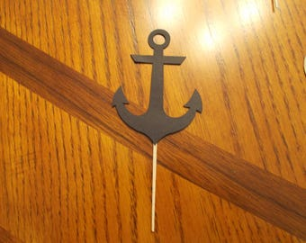 12 Anchor Cupcake Toppers! Choose your color!!