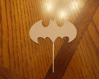 12 Batman Cupcake Toppers! Choose your color!! Double Sided!!