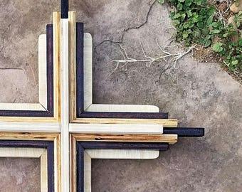 White Top Cross Wooden Wall Decor