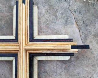 Multi Layer Wooden Cross Wall Decor