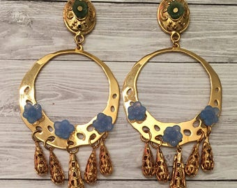 Gold Plated Pastel Earrings