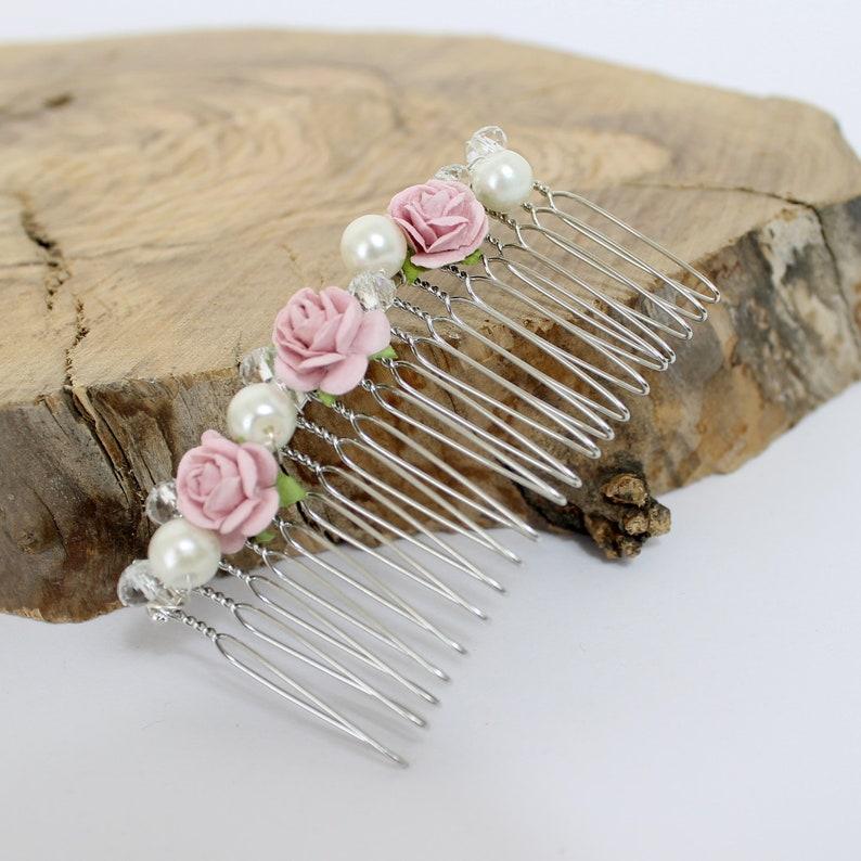 Bridal Hair Accessories Wedding Hair Comb Dusky Pink Bridal Hair Comb Blush Pink Hair Comb