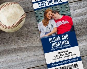 baseball save date etsy