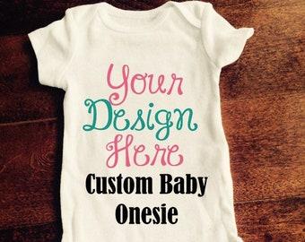Personalized onesie etsy custom baby onesie design our own bodysuit personalized onesie birthday shirt newborn gift create your own baby shirt business logo negle Choice Image