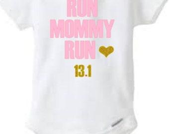 331cd41d3 baby half marathon shirt, running bodysuit, run mommy run, kid marathon  shirt, kid running shirt, disney marathon, gift for runner, mom gift