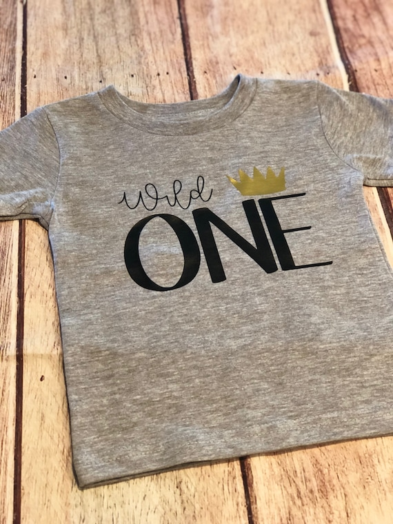Wild One Shirt First Birthday Boys