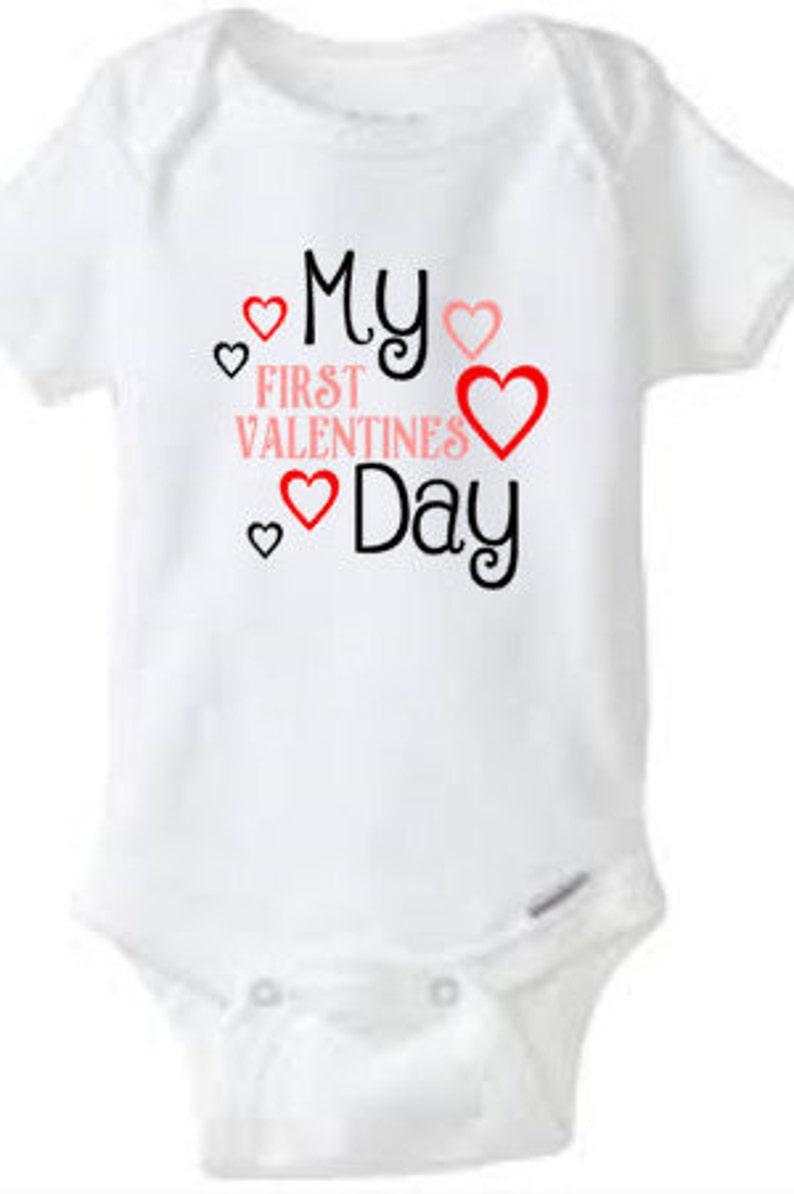 1a1d667eb2a8 My First Valentines day baby valentine bodysuit girls   Etsy