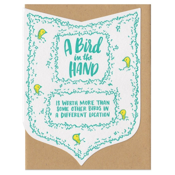 A Bird In Hand Greeting Card