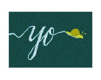 Yo Snail Postcard