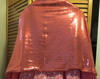 Sequined Coral Wrap