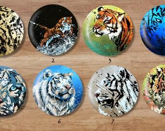 PANDAS magnets   animal   magnet   Asia   China   gift idea   decor   decor   painting   original   black and white   bamboo