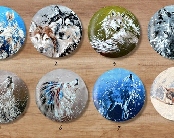 Wolves mirrors / / husky / / White Wolf / / Wolf dog / / Indian Wolf / / Wolf howling / / Pocket mirror / / gift / / girl / / bag