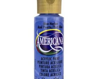 Americana Acrylic Paint, Blue Harbor, 2 oz bottle