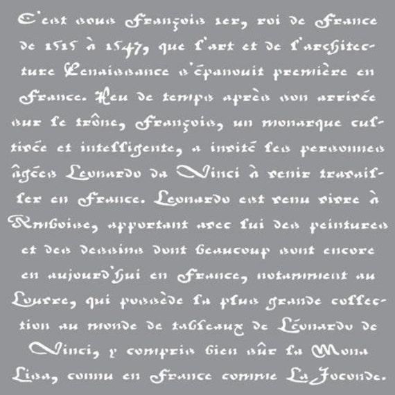 French Living DecoArt Americana Decor Stencil