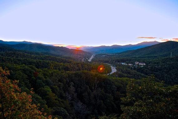 Black Mountain Nc Blue Ridge Mountains Sunset Photograph Poster Print Canvas