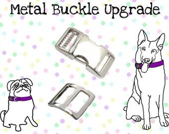 Metal Buckle Upgrade - Add an Aluminum Buckle to your SammyMerlin Dog Collar