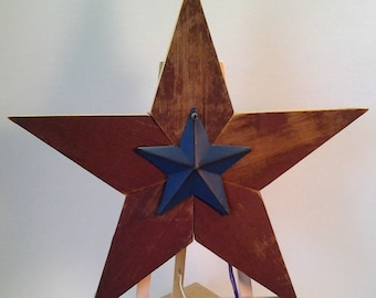 Five Point Star, Red Barn Wood Star, Reclaimed Wood Star, Rustic Country Star, Embellished Wood Star, Decorated Wood Star, Rustic Farmhouse