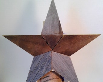 Five Point Star, Distressed Barn Wood Star, Reclaimed Wood Star, Rustic Country Star,  Wood Star, Salvage Wood Star, Rustic Farmhouse