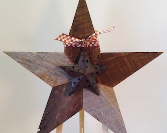 Reclaimed Wood Star, Rustic Country Star, Embellished Wood Star, Decorated Wood Star, Rustic Farmhouse