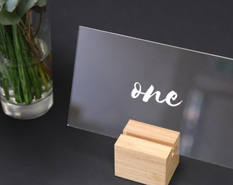 Wedding Table Numbers with FREE STAND | Perspex Table Numbers | Calligraphy Table Numbers | Acrylic Table Numbers | Table Numbers