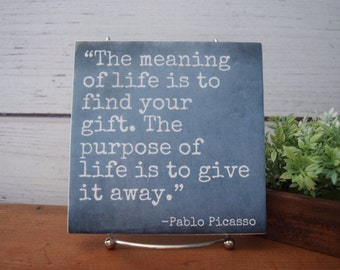 Pablo Picasso Quote Etsy