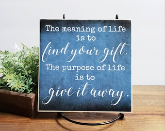 The Meaning Of Life Etsy