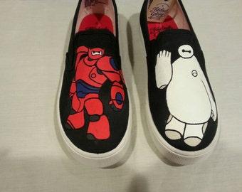 89471c2744 Custom Baymax Canvas Shoes