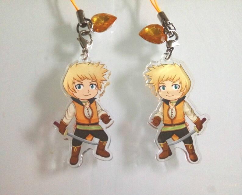 49944560b11c Abyss game  Guy Cecil acrylic charm anime kawaii game keychain