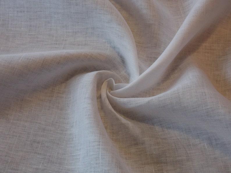 Light-weight White Linen // Limerick Linen // Lightweight image 0