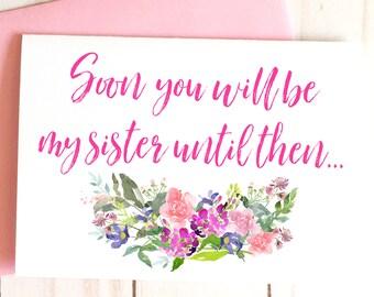 Bridesmaid Proposal, For Bridesmaid Box, Bridesmaid Gift, Bridesmaid Card, Will You Be My Maid of Honor Card