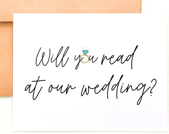 Will You Read At Our Wedding Reader Proposal Officiant Card Reader Card