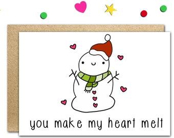Funny Christmas Card Funny Christmas Cards Cute Christmas | Etsy