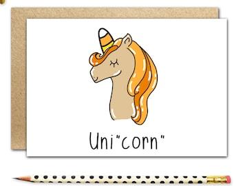 funny halloween card funny holiday cards cute halloween card candy corn unicorn cards