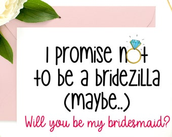 Funny Maid of Honor, Bridesmaid Card, Bridesmaid Proposal, Funny Asking Card, Be my bridesmaid, Funny Bridesmaid