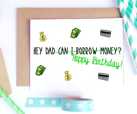 Dad Birthday Card Dad Bday Card Funny Birthday Card Card Etsy