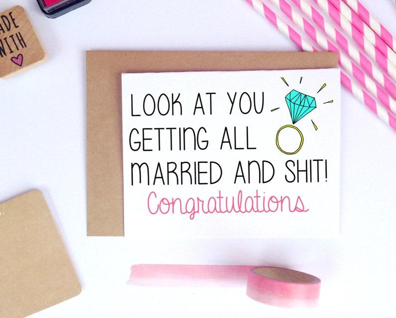 Grappige Bruiloft Bruiloft Gefeliciteerd Kaart Kaart Voor Bruid Trouwen Kaart Voor Bruidegom Huwelijksgeschenk