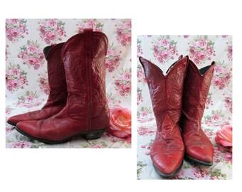 efb653c3 Vintage Ladies Cowboy Boots Vintage Red Cowboy Boots Vintage Cowgirl Boots