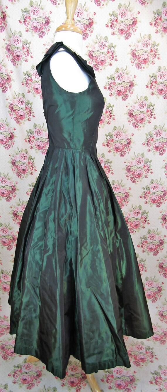 Vintage Laura Ashley Dress Size XS Vintage Green … - image 7