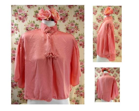 1930s Bed Jacket Vintage 30s Silk Bed Jacket Manda